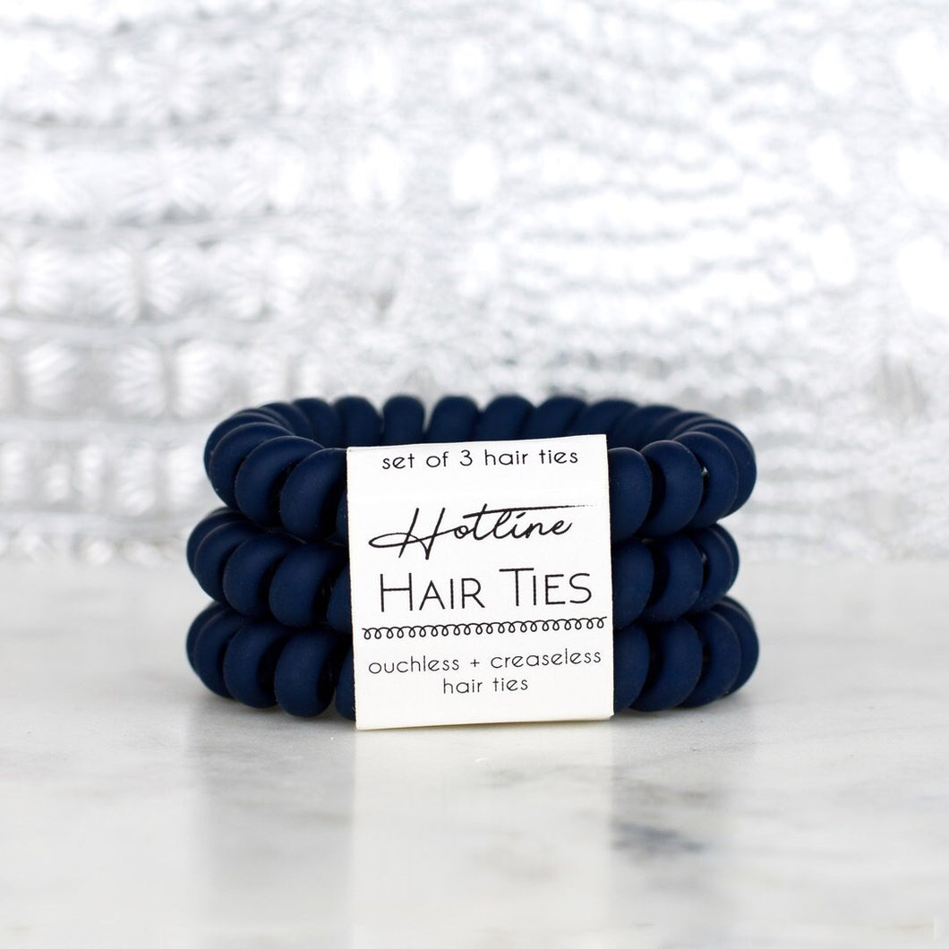 Navy Matte Hotline Hair Ties