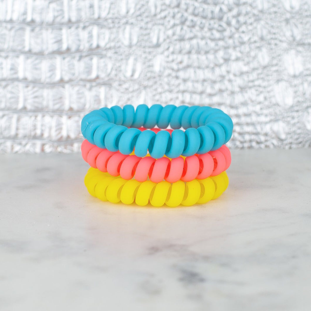 Pool Party Matte Hotline Hair Ties