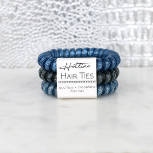 Stormy Nights Glitter Hotline Hair Ties