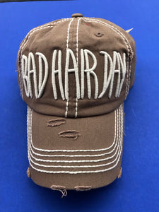 Bad Hair Day Cap in Brown