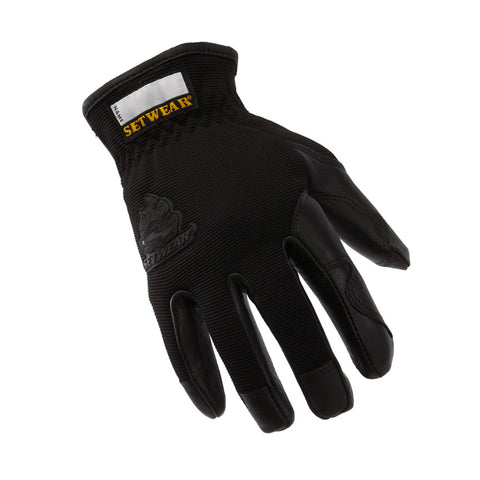 Pro Leather Black Glove - BLACKOUT