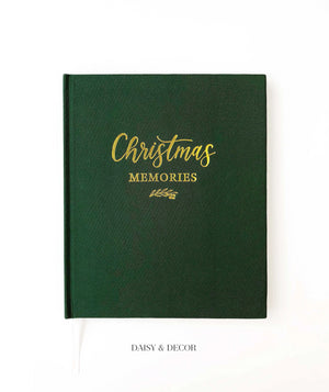 Christmas Memories Linen Journal  Store the special memories of the most wonderful time of the year in this decade-long Christmas memory book.  Inside features lots of space and prompts where you can record holiday traditions and activities you experience with family and friends