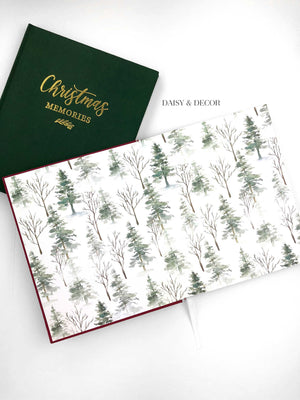 Christmas gift, housewarming gift Christmas Memories Linen Journal  Store the special memories of the most wonderful time of the year in this decade-long Christmas memory book.  Inside features lots of space and prompts where you can record holiday traditions and activities you experience with family and friends