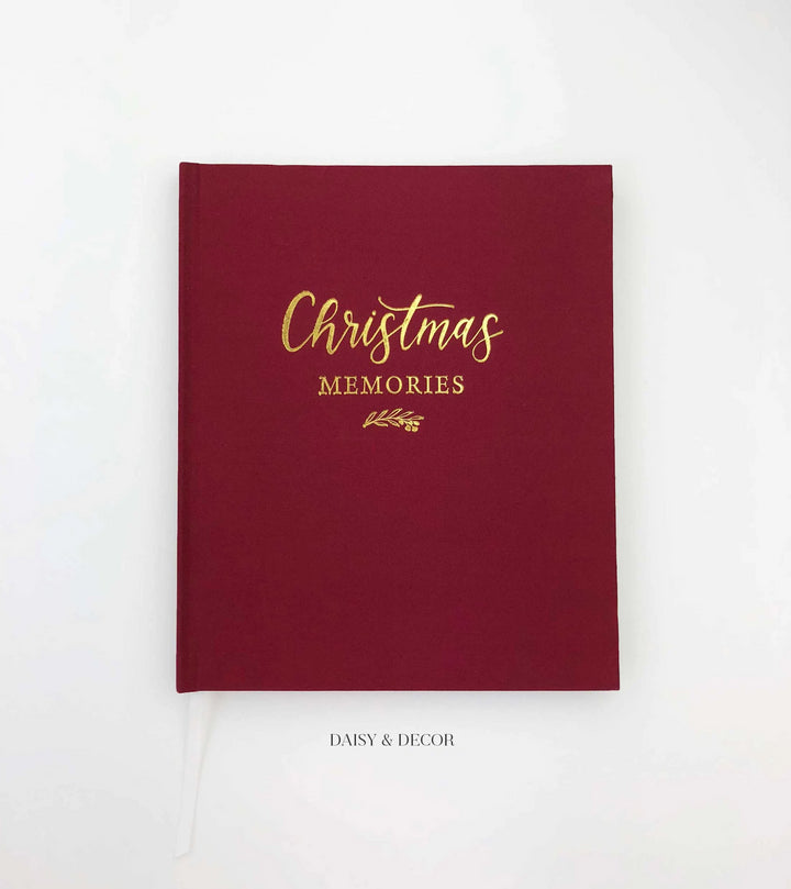 Christmas Memories Linen Journal  Christmas gift, housewarming gift, Store the special memories of the most wonderful time of the year in this decade-long Christmas memory book.  Inside features lots of space and prompts where you can record holiday traditions and activities you experience with family and friends