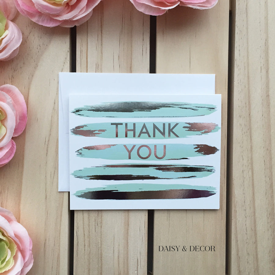 Thank You Stripes Greeting Card