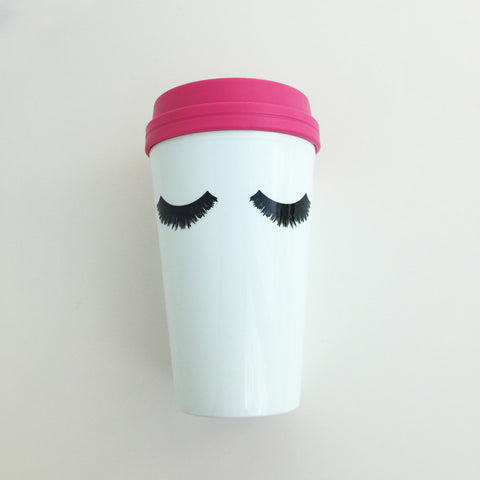 Eyelashes 16oz Travel Mug