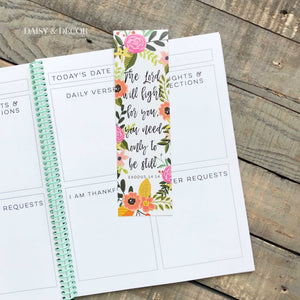 The Perfect Set of 6 bookmarks to use in your Bible, journal, and book!  Perfect as a gift for anyone or yourself! Exodus 14 14