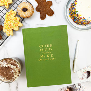 Cute & funny things my kid says and does, Christmas gift, nursery decor, kids quote journal, record memories, baby book, toddler book
