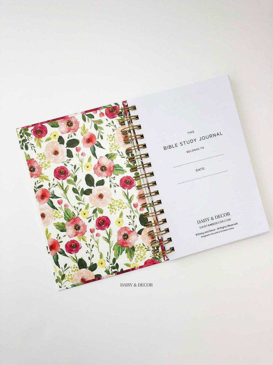 Daisy and decor New Bible study journal devotional journal Gift for her bible study journals christmas gift floral hardcover journal