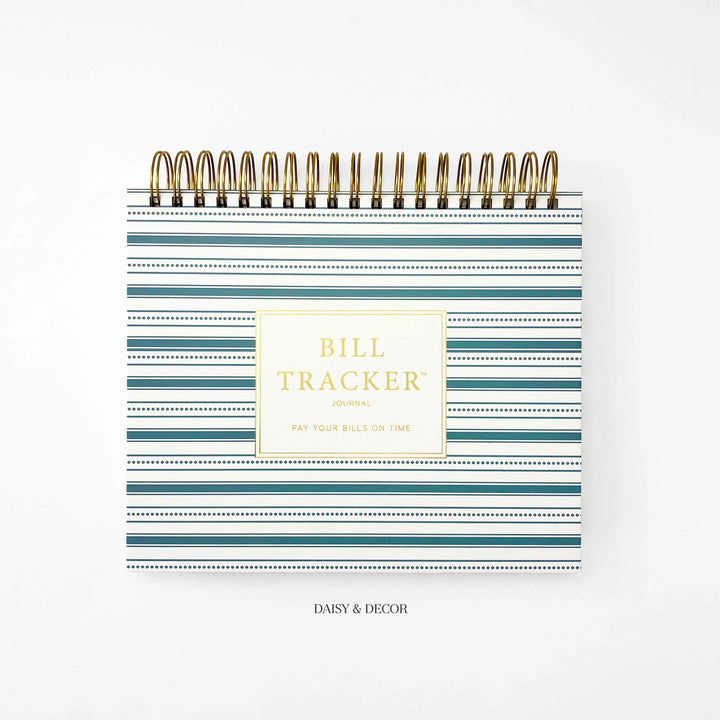 Daisy and decor, Planner undated, start anytime, Bill tracker journal, budget book, keep track of finances, bill tracker journal, abstract journal, christmas gift, budget book, pay your bills on time, things to help you pay your bills on time, bill book,