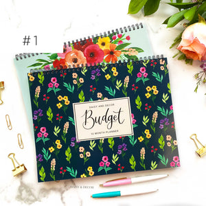 Daisy and Decor Budget planner! These 12 month journals are perfect for anyone! Budget planner, budget book, expenses tracker, bill tracker, debt tracker, savings tracker, yearly budgeting, budgeting tips, how to budget, budgeting for beginners, new home budget, teen budgeting, college budgeting, mom budgeting