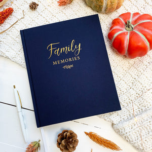 Housewarming gift, gift for wedding, christmas gift, Family Memories Linen Journal  Record your family's story in this decade-long memory book. keep family memories, christmas gift, memories journal, write down family moments, family album