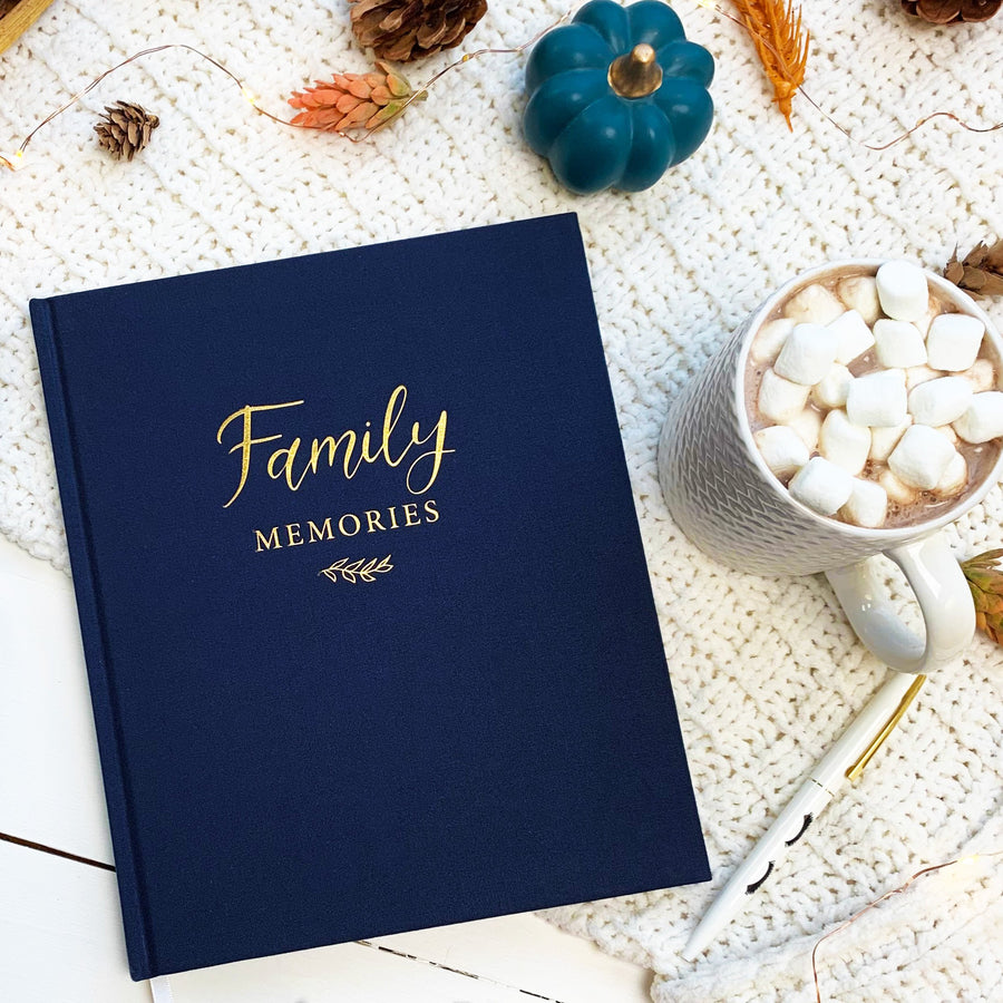 Housewarming gift, gift for wedding, christmas gift, Family Memories Linen Journal  Record your family's story in this decade-long memory book. keep family memories, christmas gift, memories journal, write down family moments,