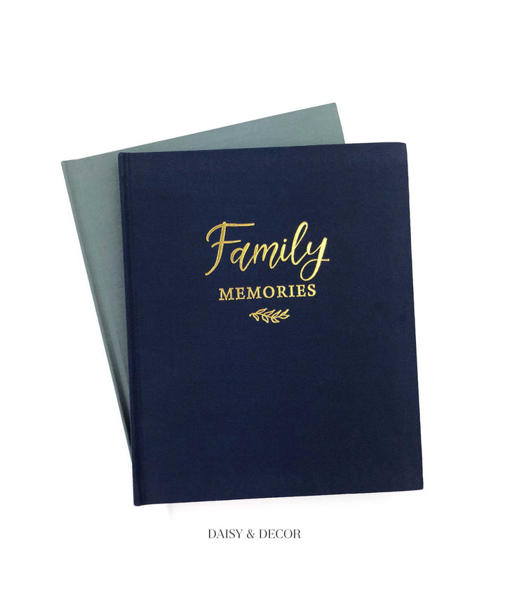 Housewarming gift, wedding gift, christmas gift, Family Memories Linen Journal  Record your family's story in this decade-long memory book.  Inside features prompted pages where you can write down special memories such as celebrations, achievements, favorite things you love to do together,