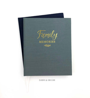Housewarming gift, gift for wedding, christmas gift, Family Memories Linen Journal  Record your family's story in this decade-long memory book.