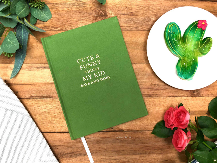 Cute & funny things my kid says and does, Chistmas gift, nursery decor, kids quote journal, record memories, baby book, toddler book