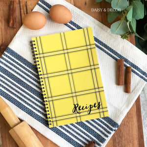 Yellow Plaid Kitchen Recipe Journal