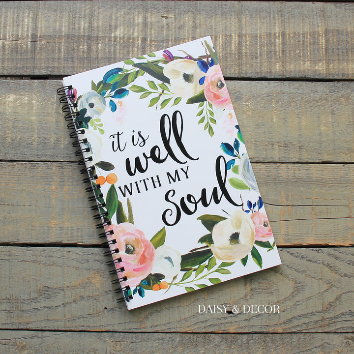 Daisy and decor Bible study journal it is well with my soul Devotional prayer journal