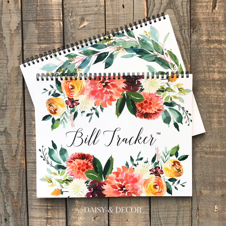 "Bill Tracker™ Journals! These 12 month journals are perfect for anyone!  ***This journal is UNDATED - you fill in the dates, and you can start at any time!  DETAILS:      12 months of recording bills     (each undated ""month"" has a : undated calendar, 2 payments pages and 1 notes page)  - you fill in the dates!     + extra pages with yearly bills , accounts pages, and subscription pages. + extra pages for notes."