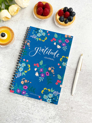 daisy and Decor undated 52 week  Gratitude journal Self care Daily Gratitude Coloring Journal Floral Adult coloring book Notebook gratitude planner Positive journal self care, coloring adult book anxiety