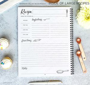 "Softcover Large 8.5x11"" Recipe Journal - Lemons"