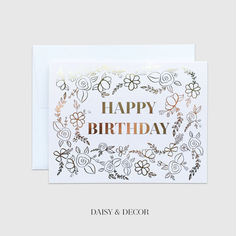 Happy Birthday Florals Greeting Card