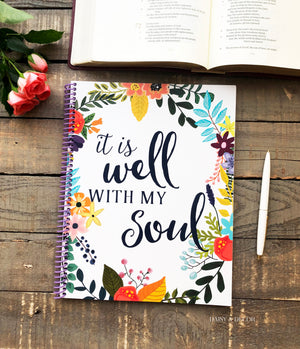 Full Year Bible Reading Journal - It is well with my soul