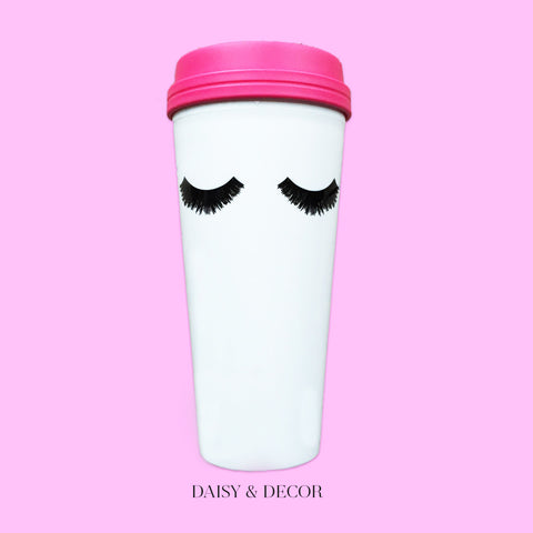 Eyelashes 20oz Travel Mug