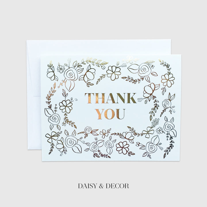 Thank you Florals Greeting Card