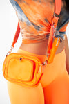 Orange Nylon Crossbody Bag