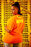 Sorella Shape Caution T-Shirt Orange