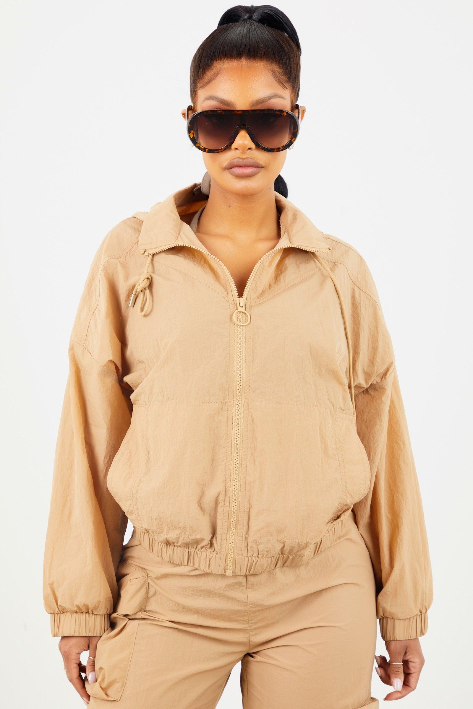 Taupe Nylon Jacket