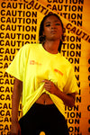 Girls Tour Caution T-Shirt Neon Yellow