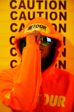 Girls Tour Caution Hoodie Orange