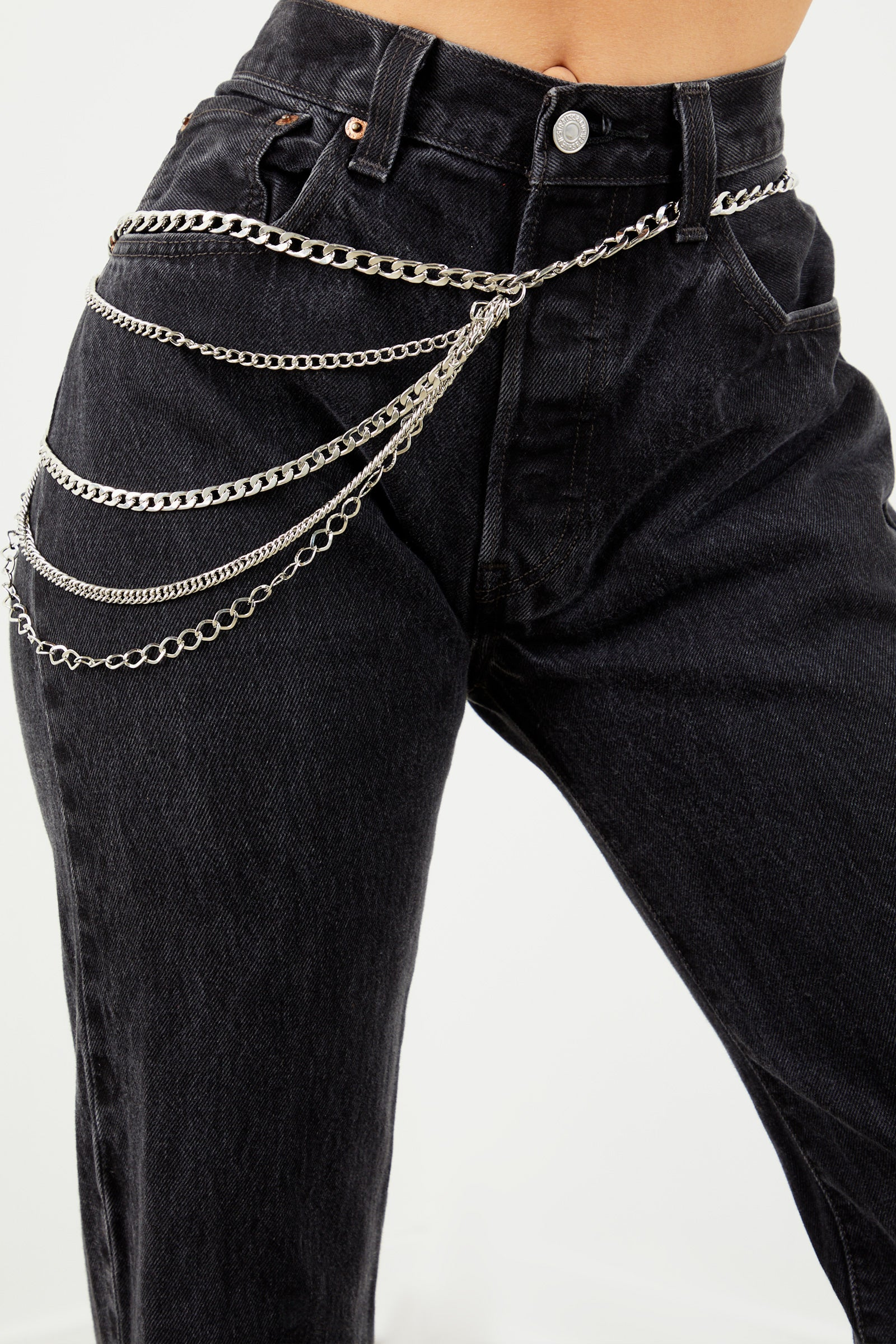 Layering Chain Belt - Silver