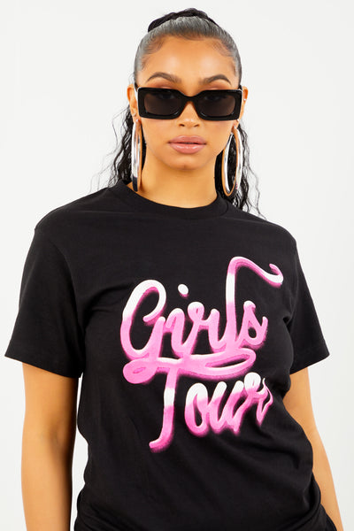 Black Girls Tour Airbrush Tee