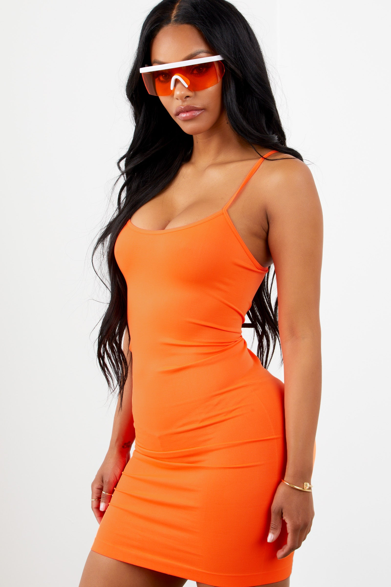 Love Struck Dress Neon Orange
