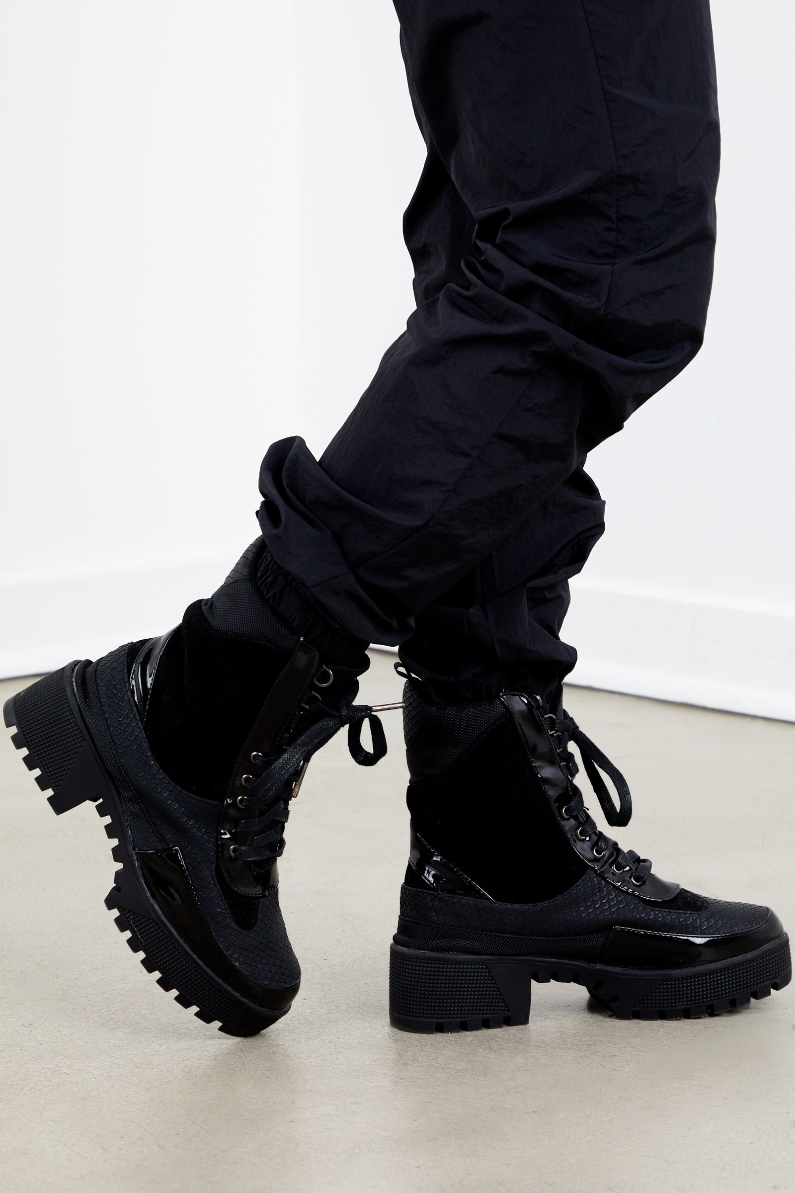 Kendall Combat Boot- Black