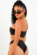 One Shoulder Bikini Set - Black