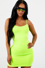 Love Struck Dress Neon Lime