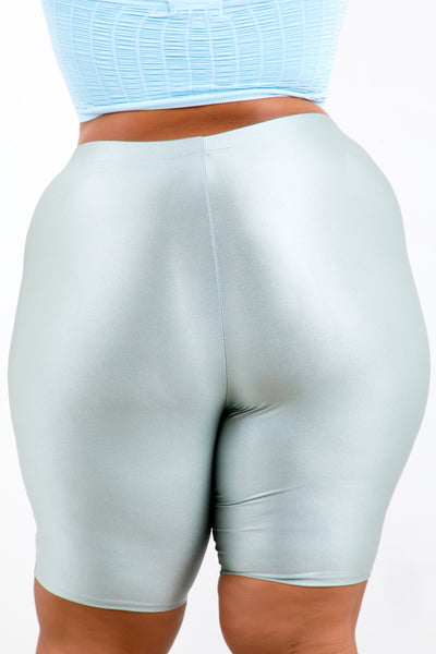 Silver Shape Athletic Biker Shorts