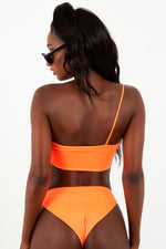 One Shoulder Bikini Set - Orange