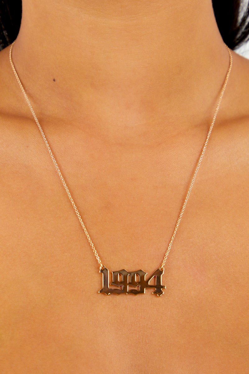 94 Pendant Necklace - Gold