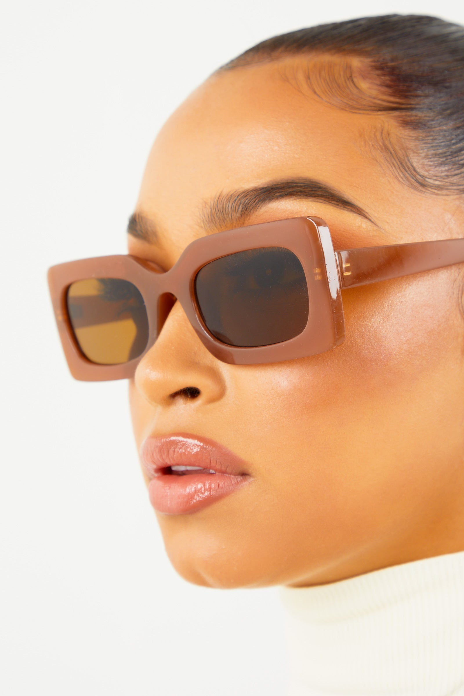 Brown Thick Framed Sunglasses