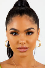 Gold Matte Open Back Earrings