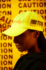 Girls Tour Caution Hat Neon Yellow