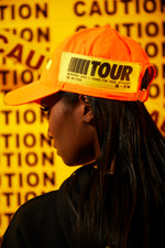 Girls Tour Caution Hat Orange