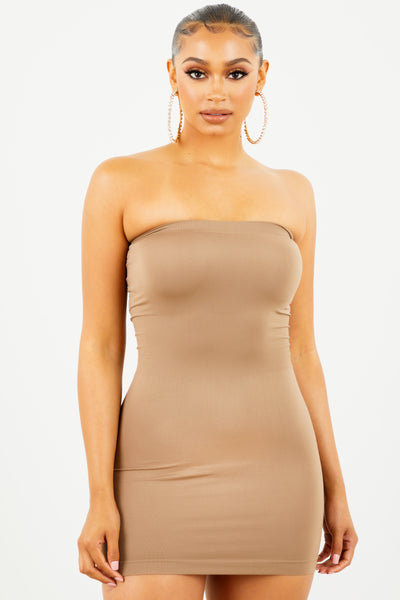 Mocha Tube Top Dress