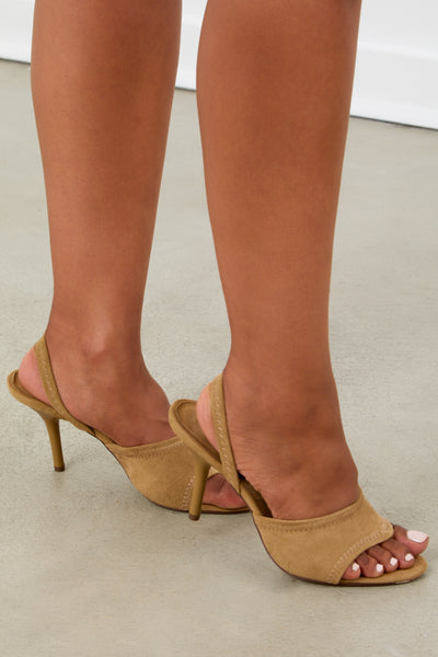 Tan Kitten Heel