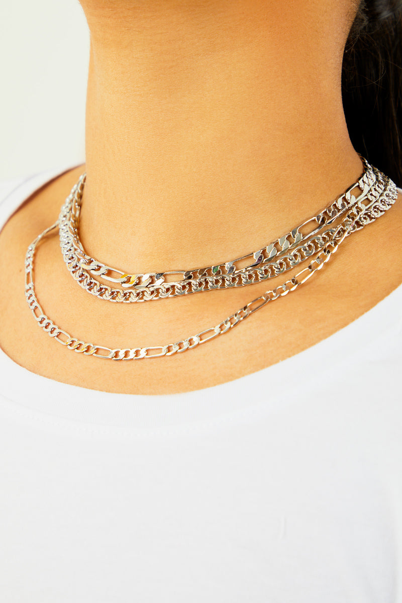 Layering Chain Necklace - Silver